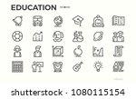 education icons. school... | Shutterstock .eps vector #1080115154