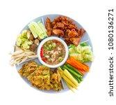 traditional thai food named nam ... | Shutterstock . vector #1080136271
