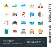 modern simple set of transports ... | Shutterstock .eps vector #1080136871