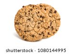 biscuits with chocolate drops...   Shutterstock . vector #1080144995