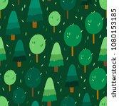 green forest vector pattern.... | Shutterstock .eps vector #1080153185
