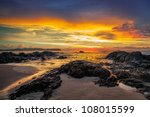 colorful sunset over the sea | Shutterstock . vector #108015599