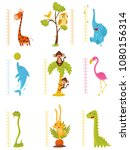 flat vector set of rulers for... | Shutterstock .eps vector #1080156314