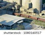 cement plant in devnya ... | Shutterstock . vector #1080160517