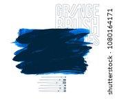 blue brush stroke and texture.... | Shutterstock .eps vector #1080164171