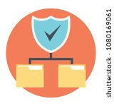 shield with folder sharing... | Shutterstock .eps vector #1080169061