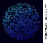 cinema movie icon circle... | Shutterstock .eps vector #1080177794