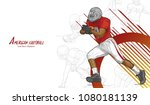 american football background... | Shutterstock .eps vector #1080181139