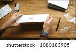 paris  france   apr 12 2018 ... | Shutterstock . vector #1080183905