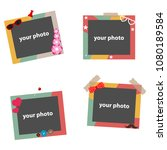 photo frames  colorful photo... | Shutterstock .eps vector #1080189584