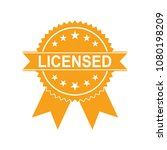 certified medal icon. approved... | Shutterstock .eps vector #1080198209