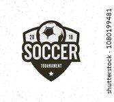football  soccer logo. sport... | Shutterstock .eps vector #1080199481