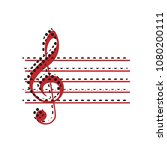music violin clef sign. g clef. ... | Shutterstock .eps vector #1080200111