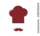 chef hat and moustache sign....   Shutterstock .eps vector #1080200345