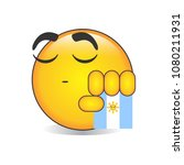 proud argentine emoji isolated... | Shutterstock .eps vector #1080211931