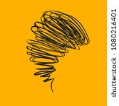 tornado  hand drawn doodle...   Shutterstock .eps vector #1080216401