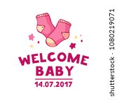 template design of baby shower... | Shutterstock .eps vector #1080219071
