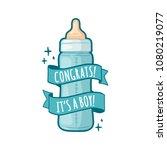template design of baby shower... | Shutterstock .eps vector #1080219077