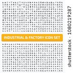 industrial and factory icon set ... | Shutterstock .eps vector #1080219287