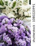 statice flower bouquet | Shutterstock . vector #1080220991