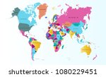 color world map vector | Shutterstock .eps vector #1080229451