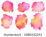 colorful abstract watercolor... | Shutterstock .eps vector #1080232241