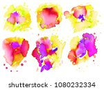 colorful abstract watercolor... | Shutterstock .eps vector #1080232334
