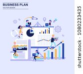 business plan flat design... | Shutterstock .eps vector #1080233435