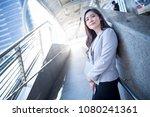businesswomen standing and... | Shutterstock . vector #1080241361