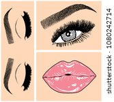 illustration with collage of... | Shutterstock .eps vector #1080242714
