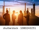 silhouette of teams engineer... | Shutterstock . vector #1080243251