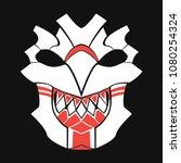 pagan mask on a dark background ... | Shutterstock .eps vector #1080254324