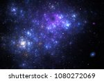 abstract chaotic blue and... | Shutterstock . vector #1080272069