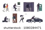 collection of scenes with male... | Shutterstock .eps vector #1080284471