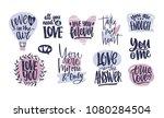 bundle of trendy valentine's... | Shutterstock .eps vector #1080284504