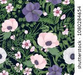 beautiful botanical pattern... | Shutterstock .eps vector #1080284654