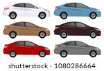 set of car vector template on... | Shutterstock .eps vector #1080286664