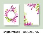 vector invitation cards with... | Shutterstock .eps vector #1080288737