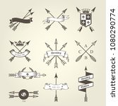 set of coat of arms with bow... | Shutterstock .eps vector #1080290774