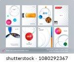 brochure design paper cut... | Shutterstock .eps vector #1080292367