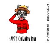 french bulldog royal canadian... | Shutterstock .eps vector #1080293105