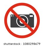 prohibition no camera sign... | Shutterstock .eps vector #1080298679