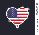 heart shaped flag of th united... | Shutterstock .eps vector #1080302351