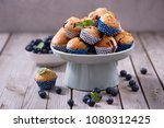 blueberry muffins  healthy... | Shutterstock . vector #1080312425
