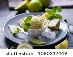 ice cream with kiwi and lime ... | Shutterstock . vector #1080312449