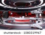 tv studio interior. 3d... | Shutterstock . vector #1080319967