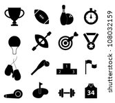 sports related icon set in black | Shutterstock .eps vector #108032159