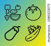 vegetarian vector icon set... | Shutterstock .eps vector #1080323075