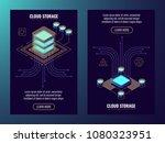 cloud storage  data center... | Shutterstock .eps vector #1080323951
