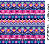 indian seamless vector pattern  ... | Shutterstock .eps vector #1080326621
